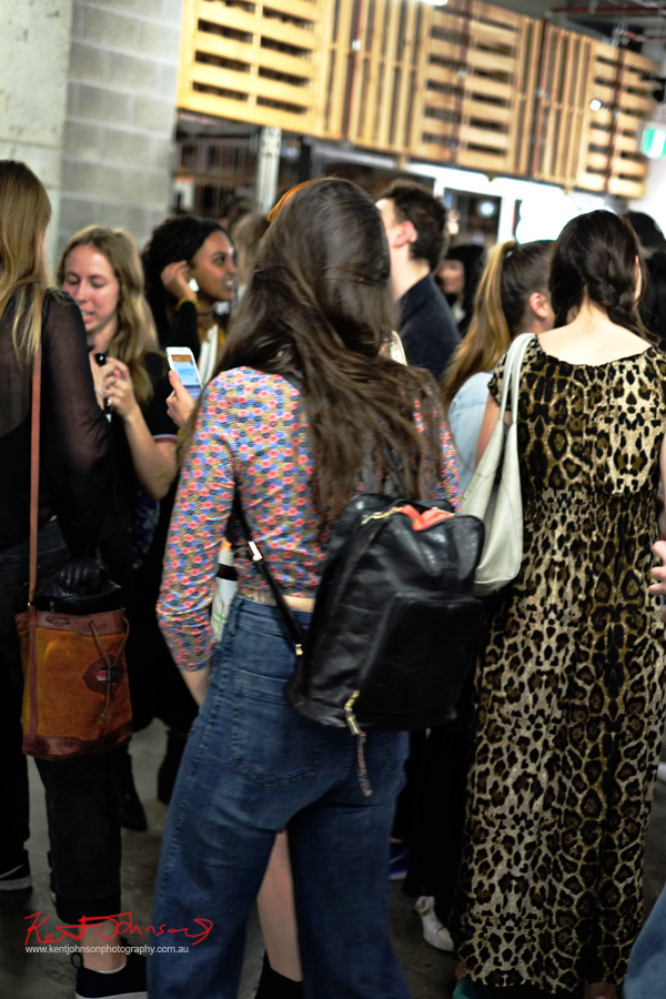 Art crowd, bags, patterns, jeans, animal print, floral.. Spring Fashion Ambushed by Street Fashion Sydney. Photographed by Kent Johnson.