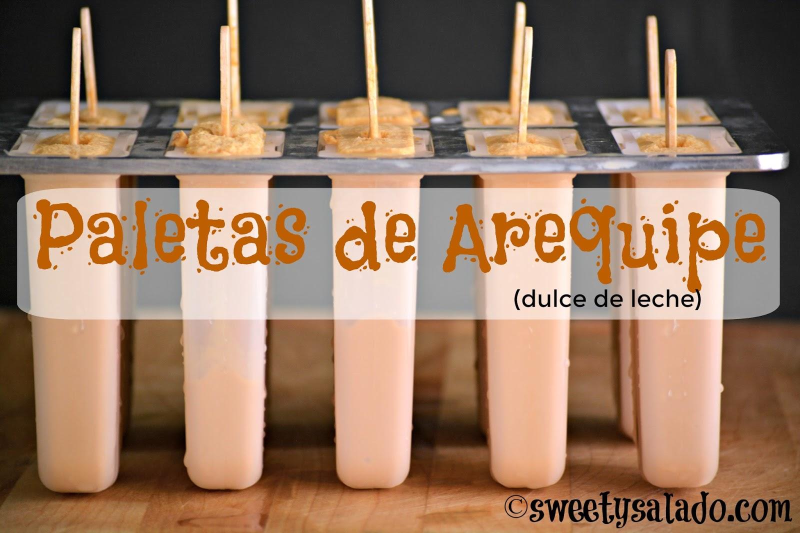 Sweet y salado paletas de arequipe dulce de leche - Hacer bolis en casa ...