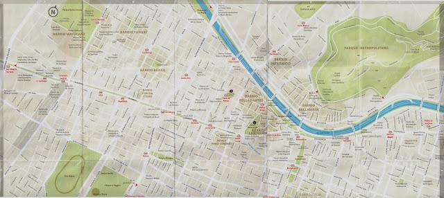 Mapa Turístico oficial de Santiago | Chile
