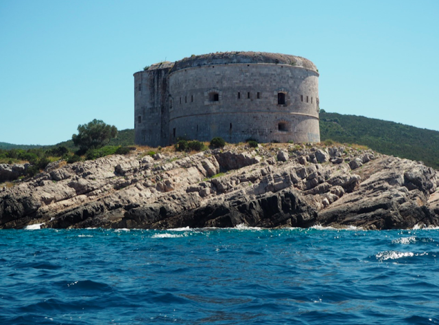 Mamula Island Fort from the water