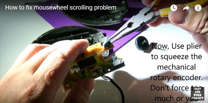How to fix mouse wheel scrolling problem