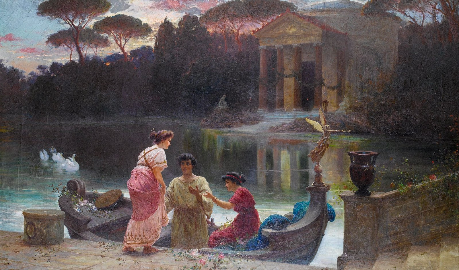 Paintings by Edouardo Ettore Forti (1850-1940)
