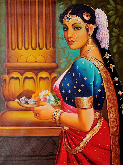 Vintage Paintings of Beautiful Woman's 32