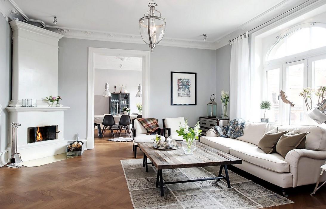 lovely deco un appartement sobre au style scandinave. Black Bedroom Furniture Sets. Home Design Ideas