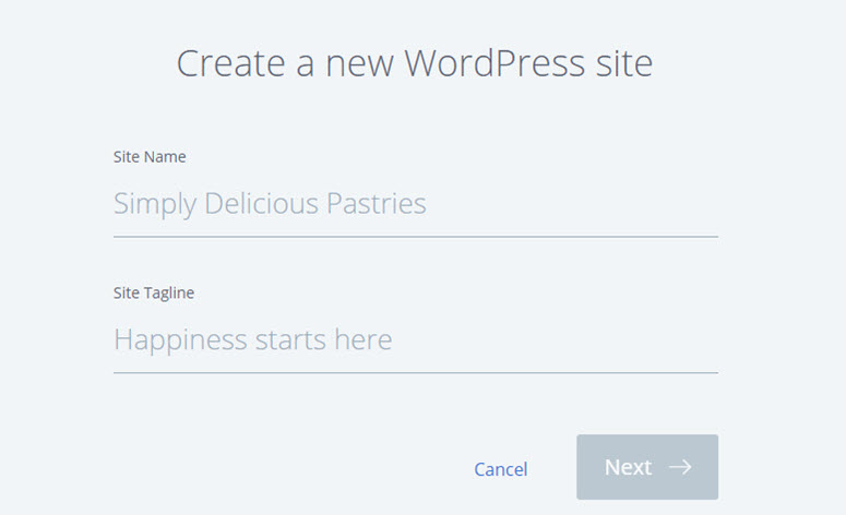 buat blog wordpress baru