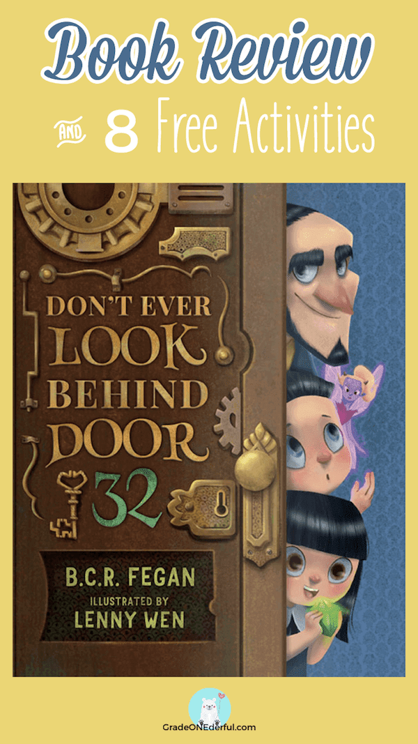Book Review and Free Activities: Don't Ever Look Behind Door 32. You don't want to miss this book. Get a set of matching number cards, too!