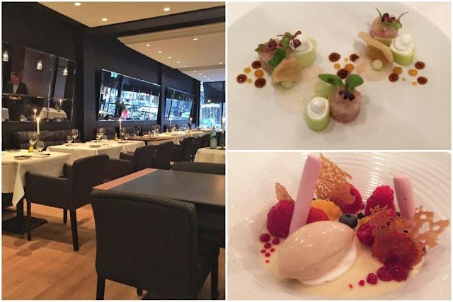 Sala del restaurante Amarone en Rotterdam – Primer plato - Postre