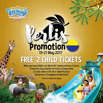 Free Lost World Of Tambun Entrance Ticket Child