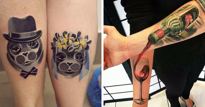 20 Paired Tattoos That Claim Your Relationship Is More Abrupt Than The Ring On Your Finger