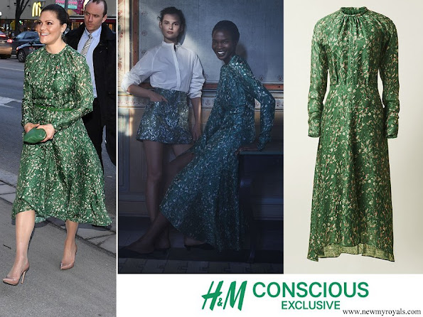 Crown Princess Victoria wore a floral print dress from H&M Conscious Exclusive Collection
