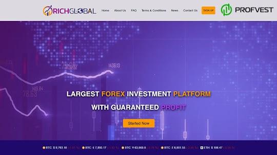 Rich Global Limited: обзор и отзывы о richglobal.trade (HYIP платит)