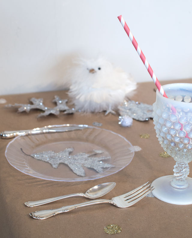 a fun and fancy child's holiday table