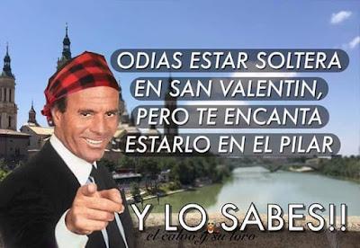 Odias estar soltera en San Valentín pero te encanta estarlo en el Pilar, y lo sabes