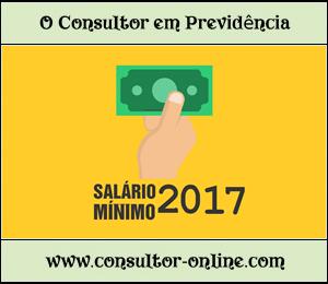 Salário-mínimo 2017, Contribuição previdenciária 2017
