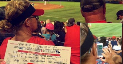 Wife Caught Cheating On Husband By Girls Behind Them At Braves Game!