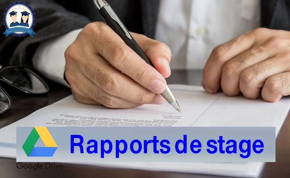 100 Rapports de Stage