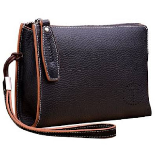 Special Deals Teemzone Men's Top Genuine Leather Business Clutch Bag Wristlet £25.89