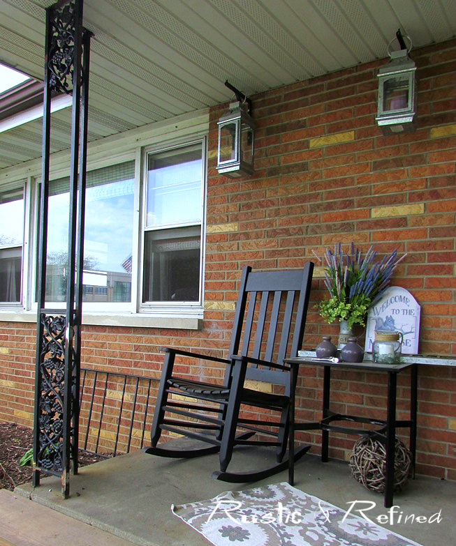 Updating a small front porch or patio in a weekend