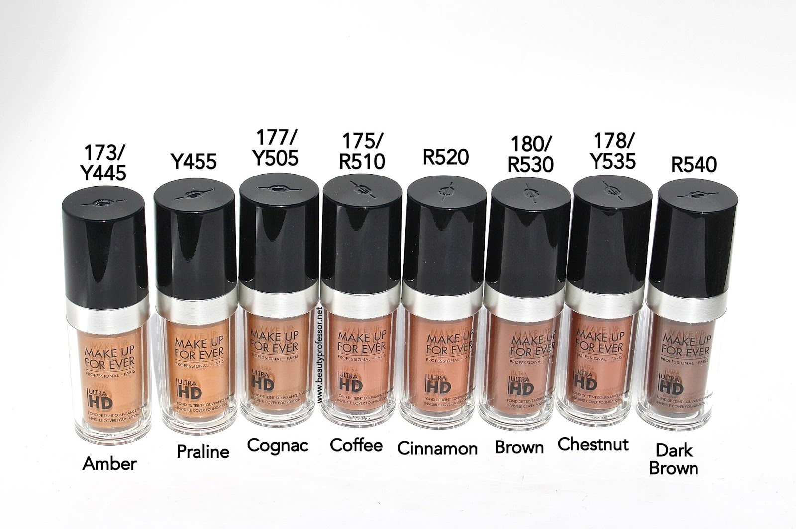 Mufe Ultra Hd Invisible Cover Foundation Swatches Of All