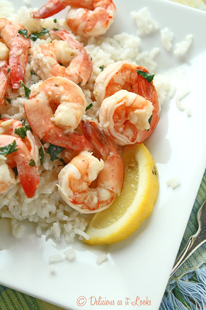 Low-FODMAP Lemon Shrimp over Rice  /  Delicious as it Looks