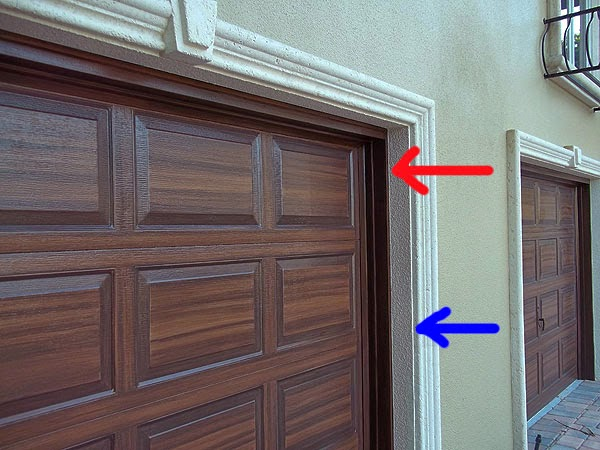 Paint garage door and front door to match everything i for How to paint a garage door to look like wood