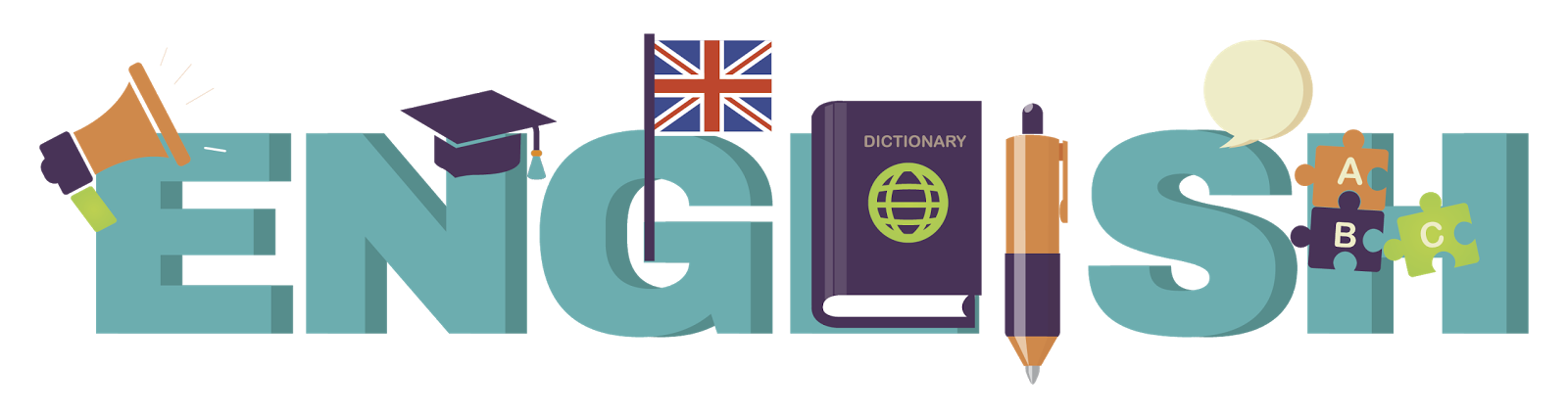 English Word Title Image
