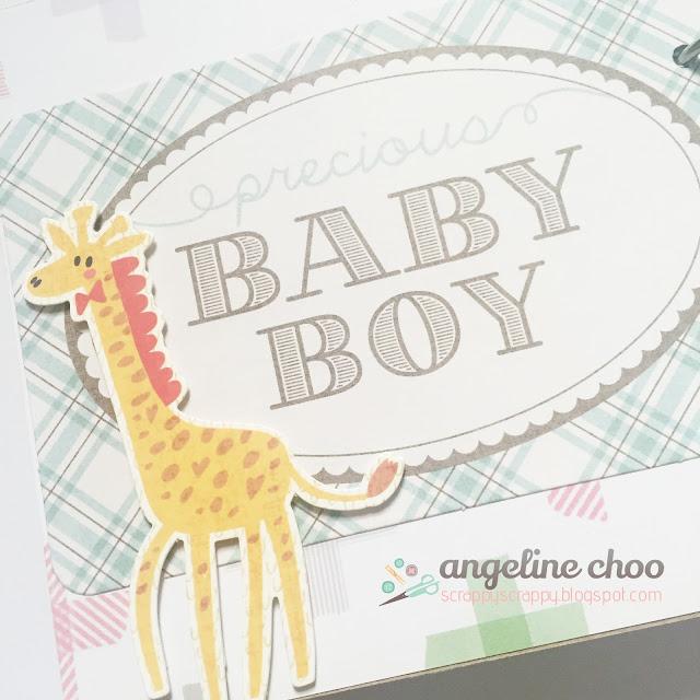 ScrappyScrappy: Twins Baby Album + Box #scrappyscrappy #svgattic #baby #minialbum #giftbox