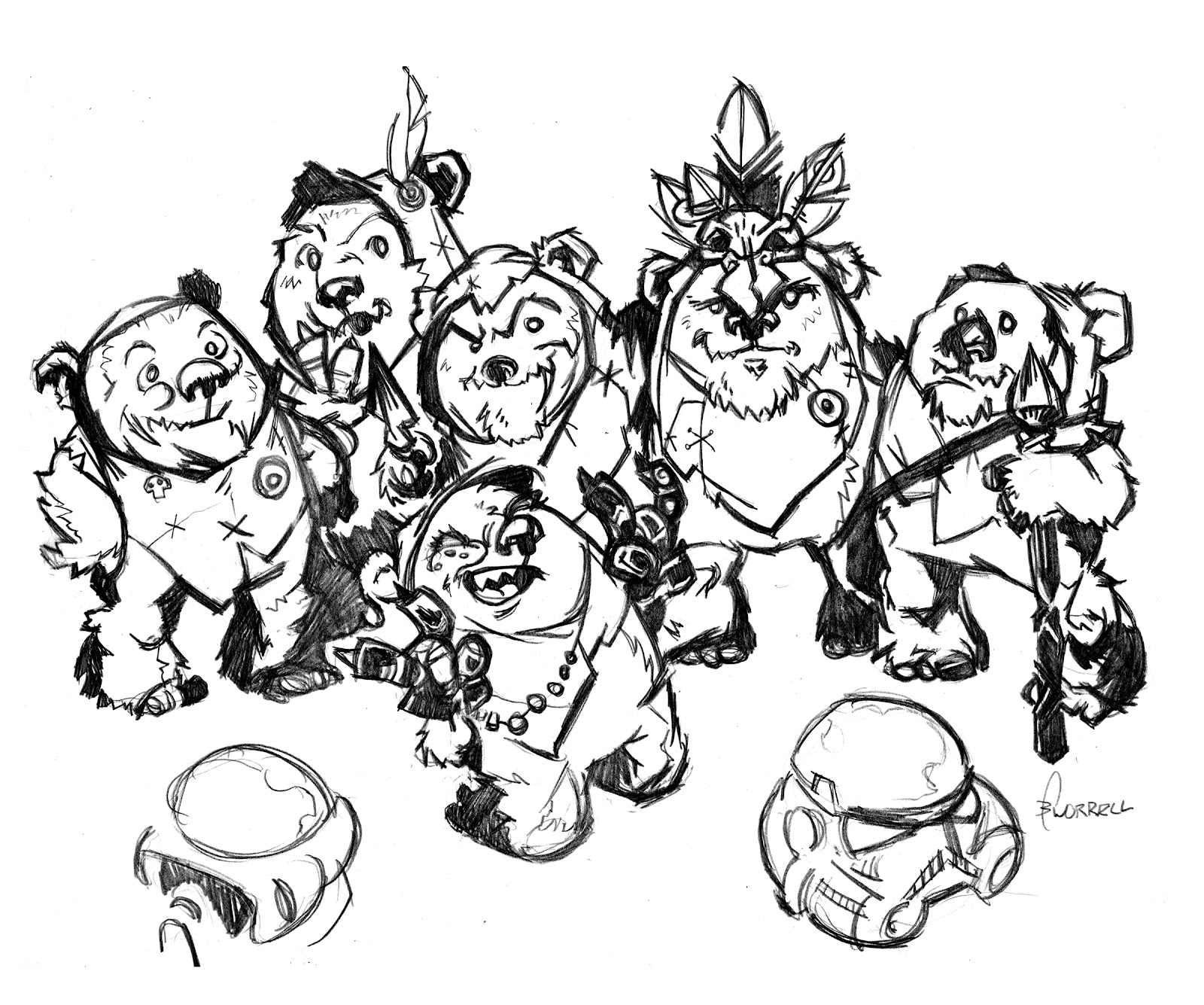 Star wars ewok coloring pages