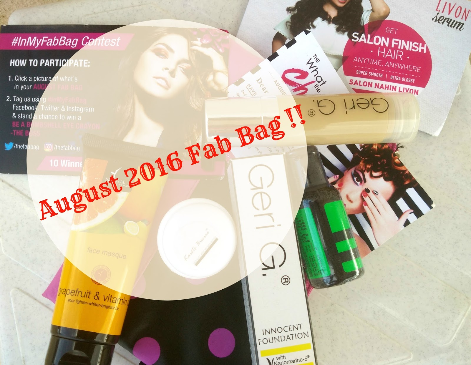 The 'What A Chic' August 2016 Fab Bag Review, Product Details, Price
