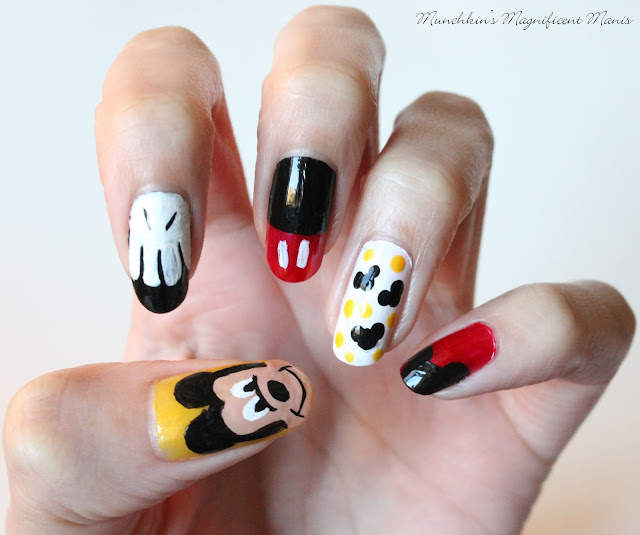 Mickey Mouse nail design