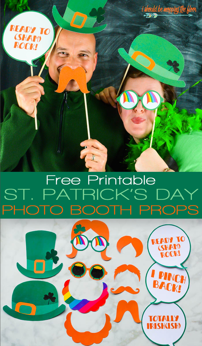 Photo Booth Printables for St. Patrick's Day