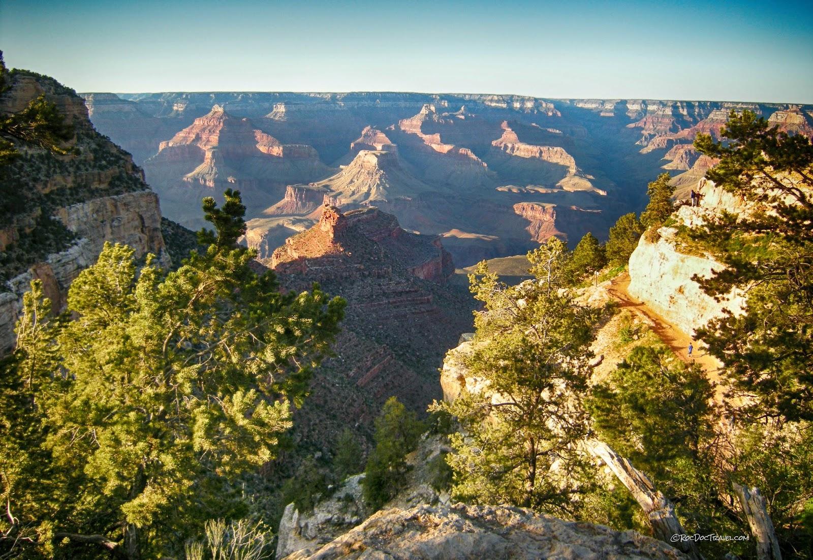 Grand Canyon National Park Arizona Bright Angel Trail south rim geology travel trip copyright rocdoctravel.com