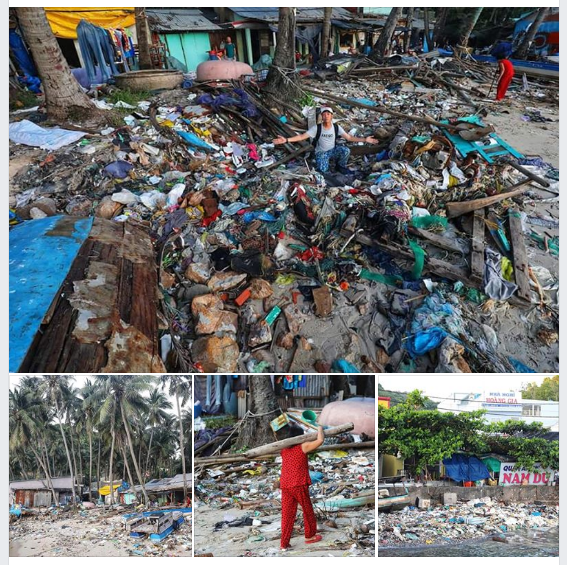 Đảo Nam Du ngập tràn rác thải