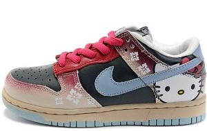 252207819b33 Custom Dunk Hello Kitty Nikes For Sale Black Red Low Sb Kicks ...
