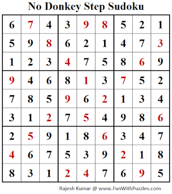 No Donkey Step Sudoku Puzzle Answer