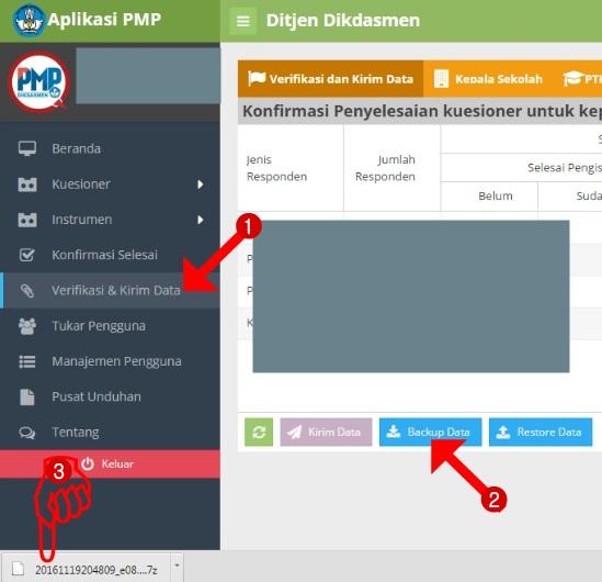 Cara Mudah Backup Data Aplikasi PMP Versi 1.4 dan 1.5