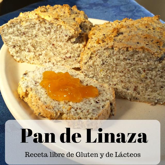 Cómo preparar un rico pan sin gluten de linaza, hecho con harinas panificables