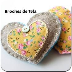 Broches de tela