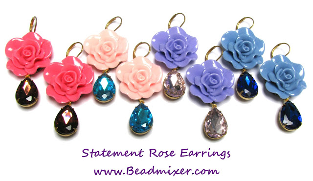 Tutorial - Statement rose oorbellen