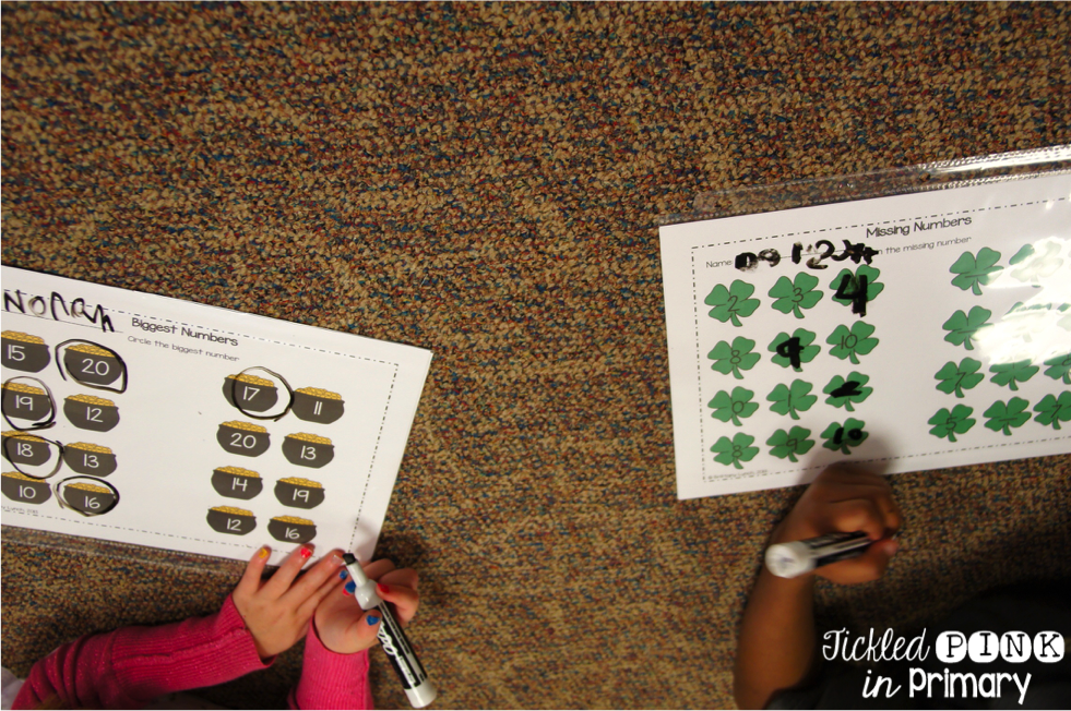 mClass Math Activities - Missing and Biggest Numbers