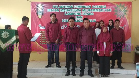 Ketua DPD IMM  Lampung Melantik PC IMM Lampung Utara