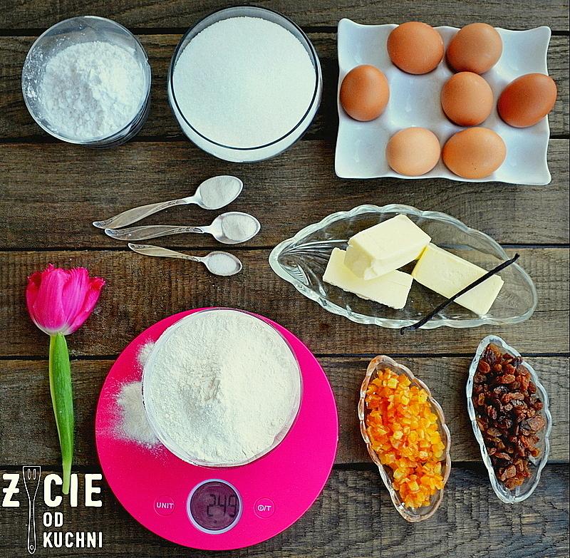 wielkanoc, ciasta wielkanocne, babka wielkaocna, skladniki na babkę, zycie od kuchi