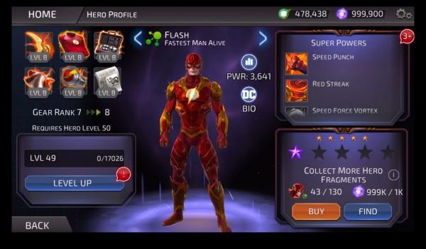 البطل الخارق فلاش في لعبة DC Legends