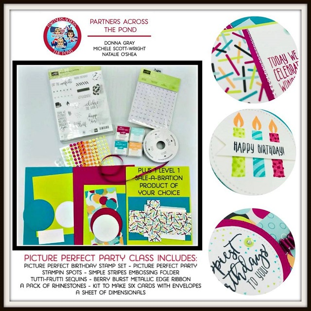On-Line Video Class, Picture Perfect, Stampin UP, Partners Across the Pond