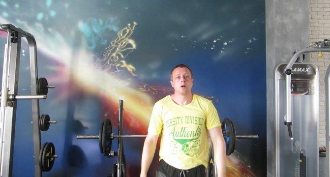 Сергей Балабин в тренажерном зале