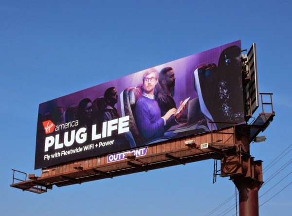 Virgin America Plug life billboard
