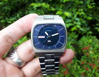 Jam Antik Seiko 5 Vintage 6309-601A Automatic Men Day Date Watch