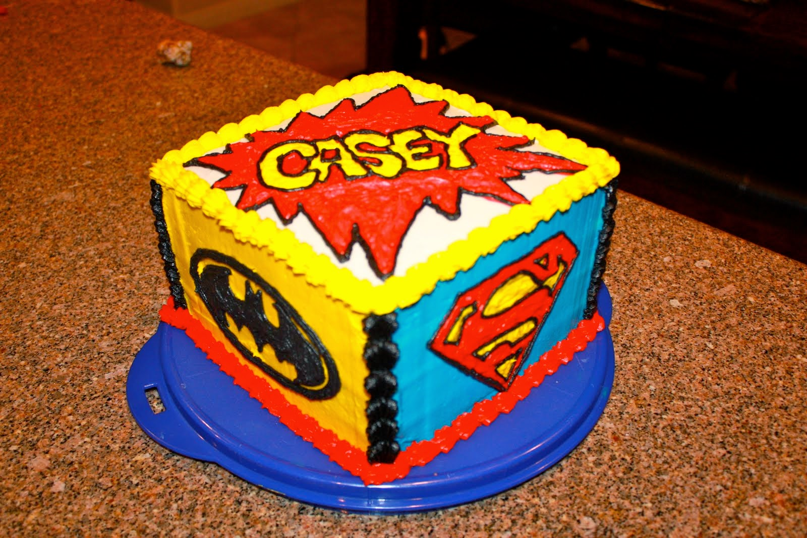 Top 14 Square Superhero Cake Cakes Gallery