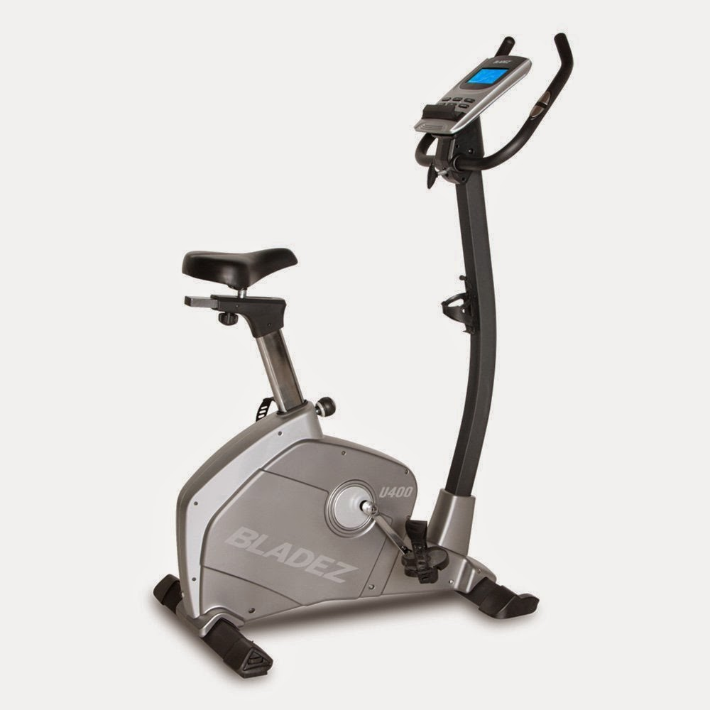 Bladez Fitness U400 Upright Exercise Bike, review, 23 workout programs, 16 resistance levels, compare with U500i