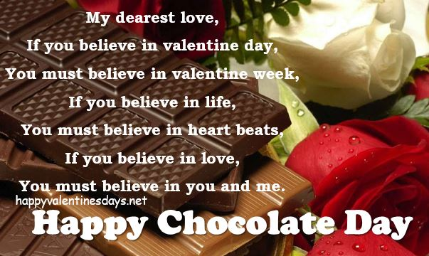 chocolate day shayari message
